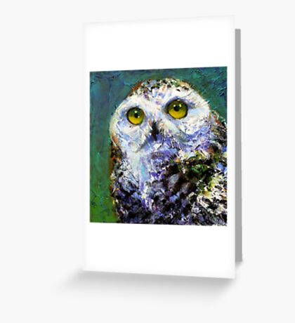 Prophecy: Snowy Owl Greeting Card