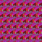 Tangrams Pattern Red  by Cveta