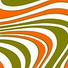 Geschwungene Streifen abstrakt von germanX