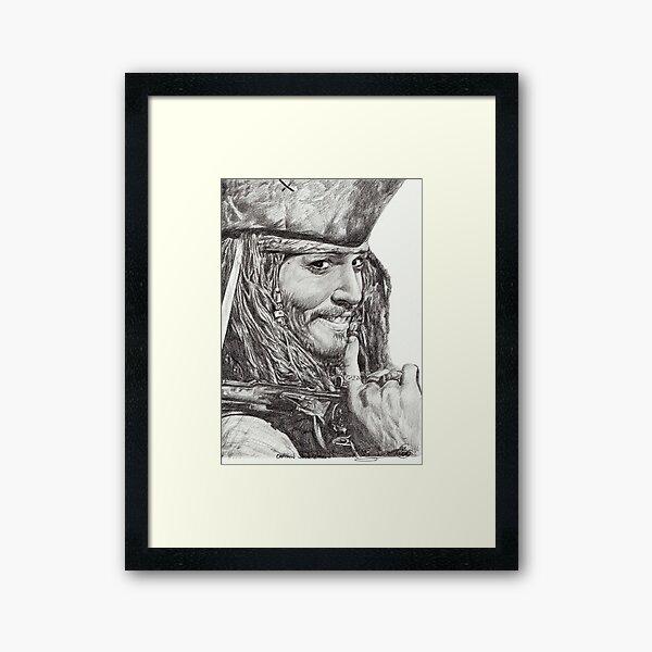Captain Jack Sparrow Framed Art Print