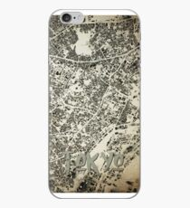 Tokyo City Streets and Buildings Map Vintage Design iPhone Case