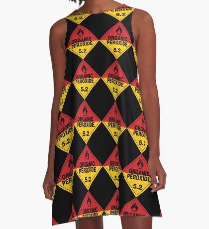 Organic Peroxide Warning Sign A-Line Dress