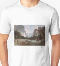 View of Yosemite Valley by Thomas Hill T-Shirt