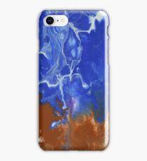 Raw Electric Blue iPhone Case/Skin