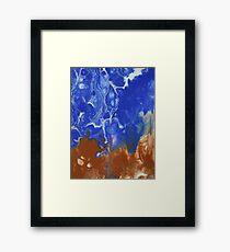 Raw Electric Blue Framed Print
