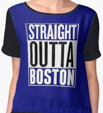 Straight Outta Boston Shirt, Lovers Boston City T-Shirt  Chiffon Top