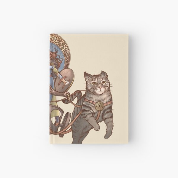 Freya Driving Her Cat Chariot Hardcover Journal
