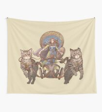 Freya Driving Her Cat Chariot Wall Tapestry