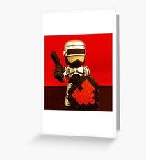 Robocop Valentines Greeting Card