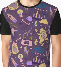 Mad Science in Purple Graphic T-Shirt