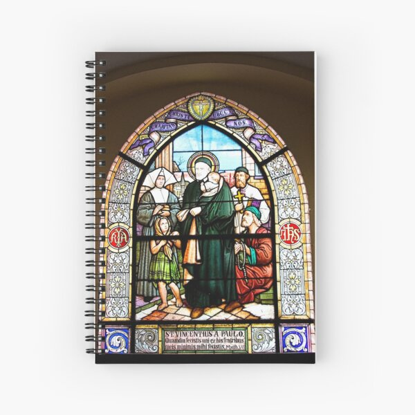 Stained Glass Windows depicting the St. Vincent de Paul Spiral Notebook