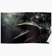 The Witcher Wolf Medallion Poster