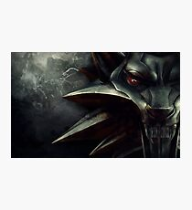 The Witcher Wolf Medallion Photographic Print
