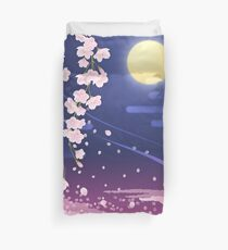 Sakura night Duvet Cover