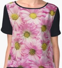 Covered in Pink Daisies Women's Chiffon Top
