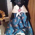 Madison Ann Black Folk Art Doll by Faith Magdalene Austin