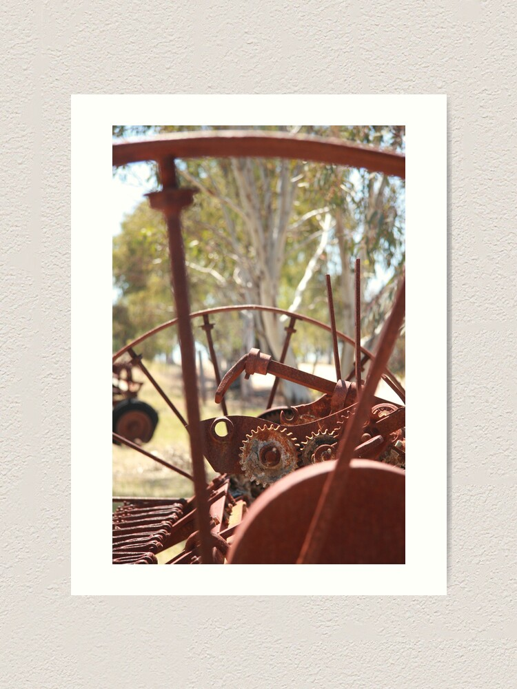 Alternate view of Rusting farm equipment Art Print