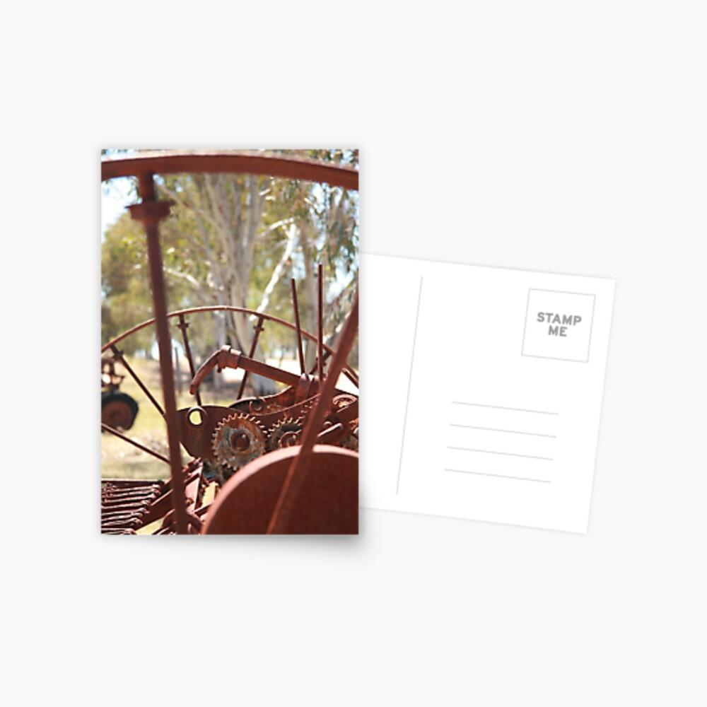 Rusting farm equipment Postcard