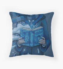 Books magic blue Throw Pillow