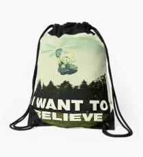 Believe in Peri Drawstring Bag