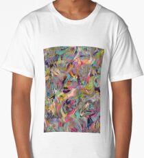 Marbled Rainbow Long T-Shirt