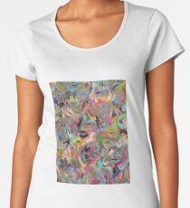 Marbled Rainbow Women's Premium T-Shirt