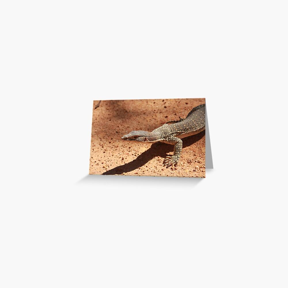Sand goanna – Varanus gouldi Greeting Card