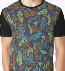 Cut Flowers Blue Graphic T-Shirt