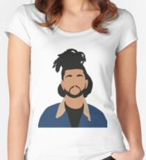 The Weeknd Minimalist Illustration  Women's Fitted Scoop T-Shirt