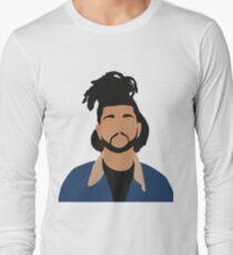 The Weeknd Minimalist Illustration  Long Sleeve T-Shirt