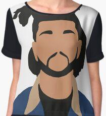 The Weeknd Minimalist Illustration  Chiffon Top