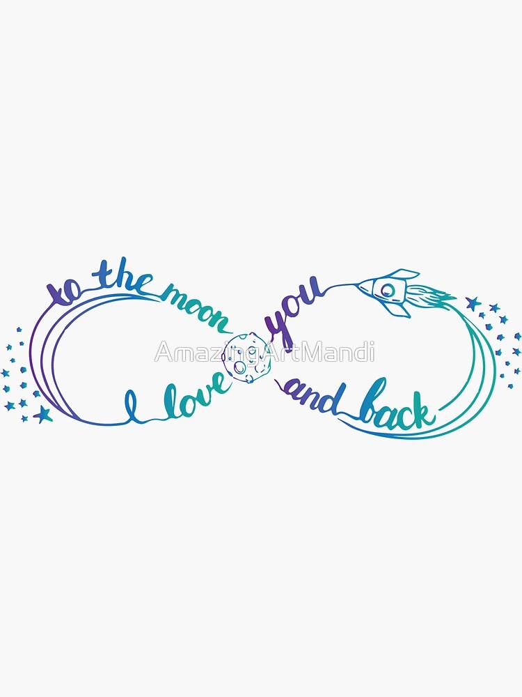 I love you to the moon and back by AmazingArtMandi