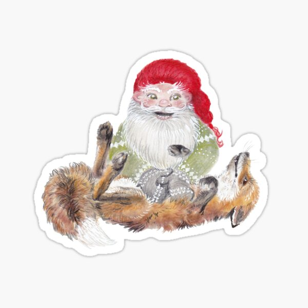 The Gnome and his friend the fox Sticker
