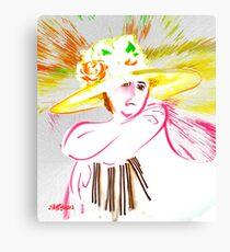 The Flowered Hat Leinwanddruck