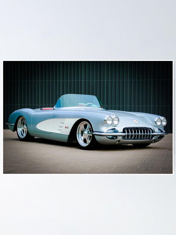 "Poster 24/"" x 36/"" Corvette Classic Car 1960"