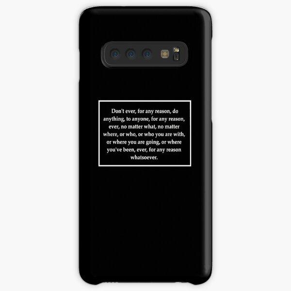 Michael Scott Life Philosophy Samsung Galaxy Snap Case