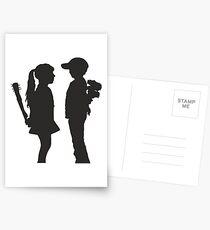 Banksy Design Print Girl and Boy  Postcards