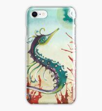 Decorative Seahorse red coral iPhone Case/Skin