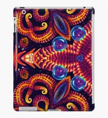 Psychedelic ornament. Bright neon forms. Ultraviolet illustration. Abstract glowing pattern. Undersea world iPad Case/Skin