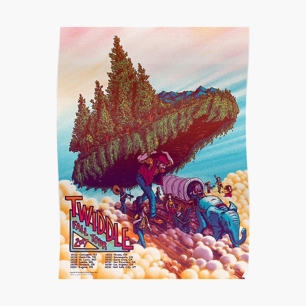 Twiddle fall tour leg 2 limited edition poster 2017 poster by gilang67 redbubble