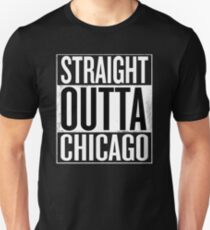 Straight Outta Chicago Shirt, Lovers Chicago City T-Shirt Unisex T-Shirt