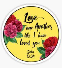John 13:34 Sticker
