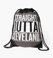 Straight Outta Cleveland Shirt, Lovers Cleveland T-Shirt Drawstring Bag