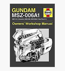 Gundam Zeta Plus - Owners' Manual Photographic Print