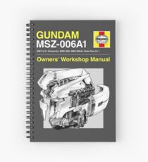 Gundam Zeta Plus - Owners' Manual Spiral Notebook