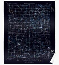 USGS TOPO Map Illinois IL Eldorado 309433 1905 62500 Inverted Poster