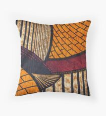 Hot and Warm African Wax Print Throw Pillow