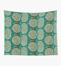 The Green moon - Capulana African wax print  Wall Tapestry