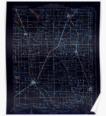 USGS TOPO Map Illinois IL Eldorado 309434 1906 62500 Inverted Poster