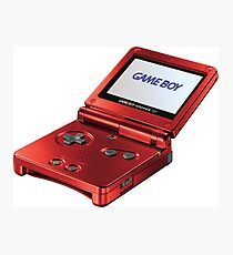 Gameboy Red Photographic Print